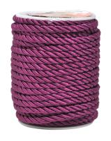 Mandala Crafts Rayon Twisted Cord Trim, Shiny Viscose Cording for Home Décor, Upholstery, Curtain Tieback, Honor Cord (5mm, Purple)