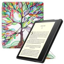 Fintie Origami Case for All-New Kindle Oasis (10th Generation, 2019 Release and 9th Generation, 2017 Release) - Slim Fit Stand Cover Support Hands Free Reading with Auto Wake Sleep, Love Tree