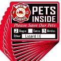 """Signs Authority 5, 10 or 20-Pack Stylish Pet Rescue Stickers Decals for House Windows Doors 