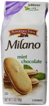 Pepperidge Farm Milano Cookies, Mint, 7 Ounce (Pack of 12)
