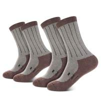 NBPOW Thermal Warm Wool Socks 2 Pairs for Winter, Hiking, Trekking, Crew Socks for Men & Women