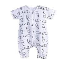 BLOOMSTAR Baby Wearable Blanket Muslin Leg Early Walker Toddler Sleeping Sack Cotton Short Sleeves Summer Sleepwear with Feet 0.5 Tog