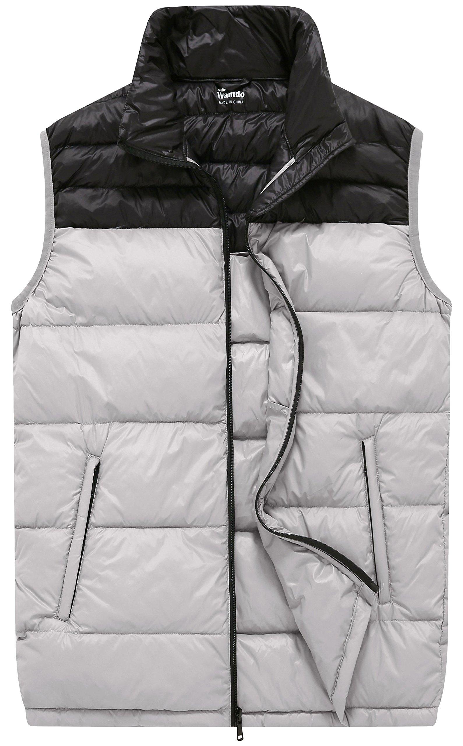 Wantdo Men's Packable Outdoor Lightweight Down Puffer Zip Vest