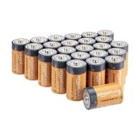 AmazonBasics D Cell 1.5 Volt Everyday Alkaline Batteries - Pack of 24