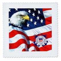 3dRose LLC qs_982_4 U.S. Coast Guard Quilt Square, 12 by 12-Inch