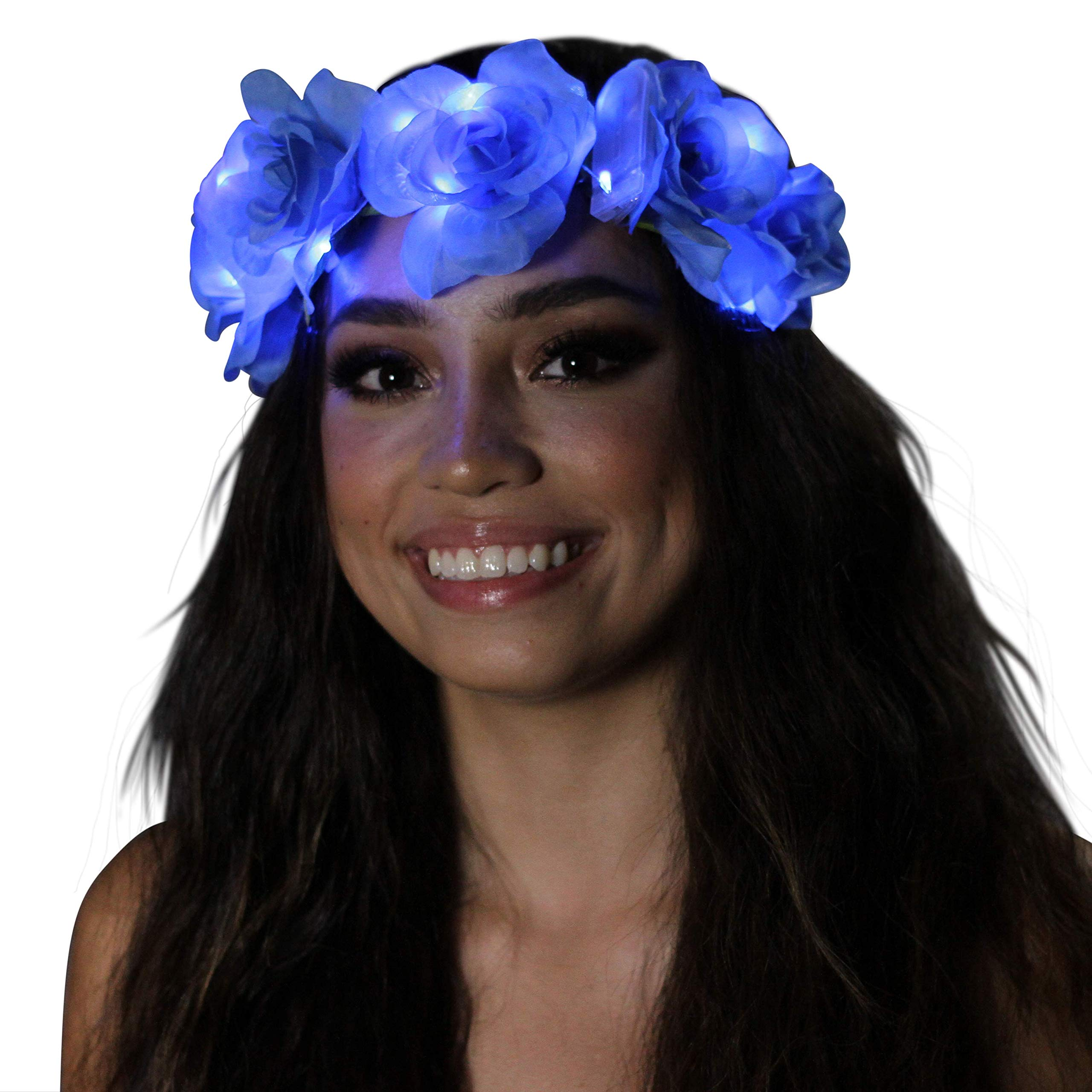 Light Up Flower Crown (Blue Rose)