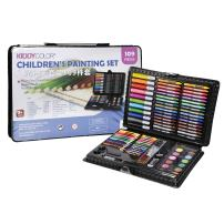 KIDDYCOLOR 109-Piece Deluxe Art Set for Kids with Plastic Case Light, Great Gift for Kids Christmas Gift