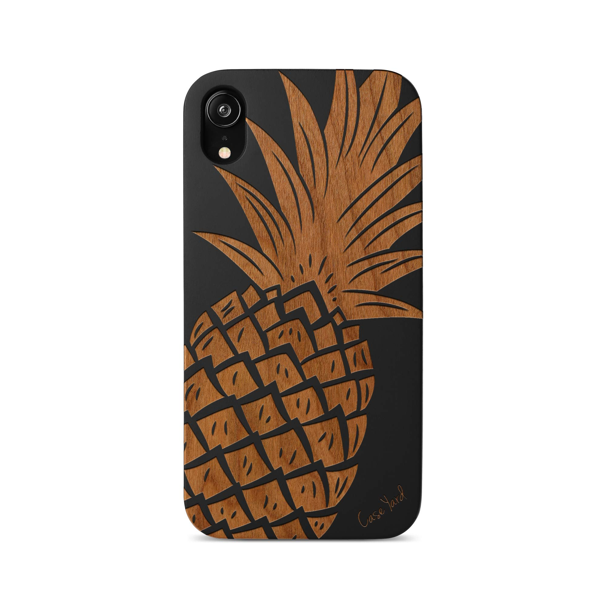 iPhone 11 Pro Max Case by Case Yard Fit for iPhone 11 Pro Max 6.5-Inch [ 2019 Release ] Shock-Absorption iPhone 11 Pro Max Phone Cover Wood Black iPhone 11 Pro Max Cases Pineapple