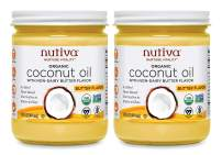 Nutiva Organic Coconut Oil with Non-Dairy Butter Flavor, 14 Ounce (Pack of 2)