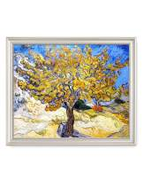 DECORARTS - The Mulberry Tree, Vincent Van Gogh Art Reproduction. Giclee Print& Framed Art for Wall Decor. 20x16, Framed Size: 23x19