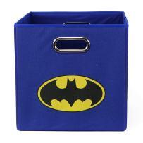 Batman Folding Storage Basket, Blue - Collapsible Storage Bin for Toys - Bedroom Organizer - Foldable Bin with Large Capacity. Kid's Room Decor