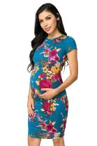 My Bump Women's Maternity Bodycon Causual Short Sleeve Mama Dress(Made in USA)