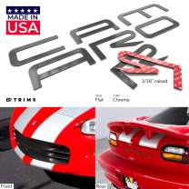 BDTrims Bumper Raised Letters Compatible with 1992-2002 Camaro Models (Chrome)