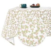 Deconovo Designer Series Unique Floral Tablecloth Water Resistant Forest Berries Tablecloth Wrinkle Resistant Rectangle Tablecloth for Party Buffet Pink Berries 54x120 Inch
