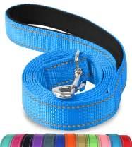 Joytale Reflective Dog Leash,6 FT/4 FT, Padded Handle Nylon Dogs Leashes for Walking,Training Lead for Large, Medium & Small Dogs