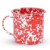 Enamelware Mug, 24 ounce, Red/White Splatter (Set of 4)