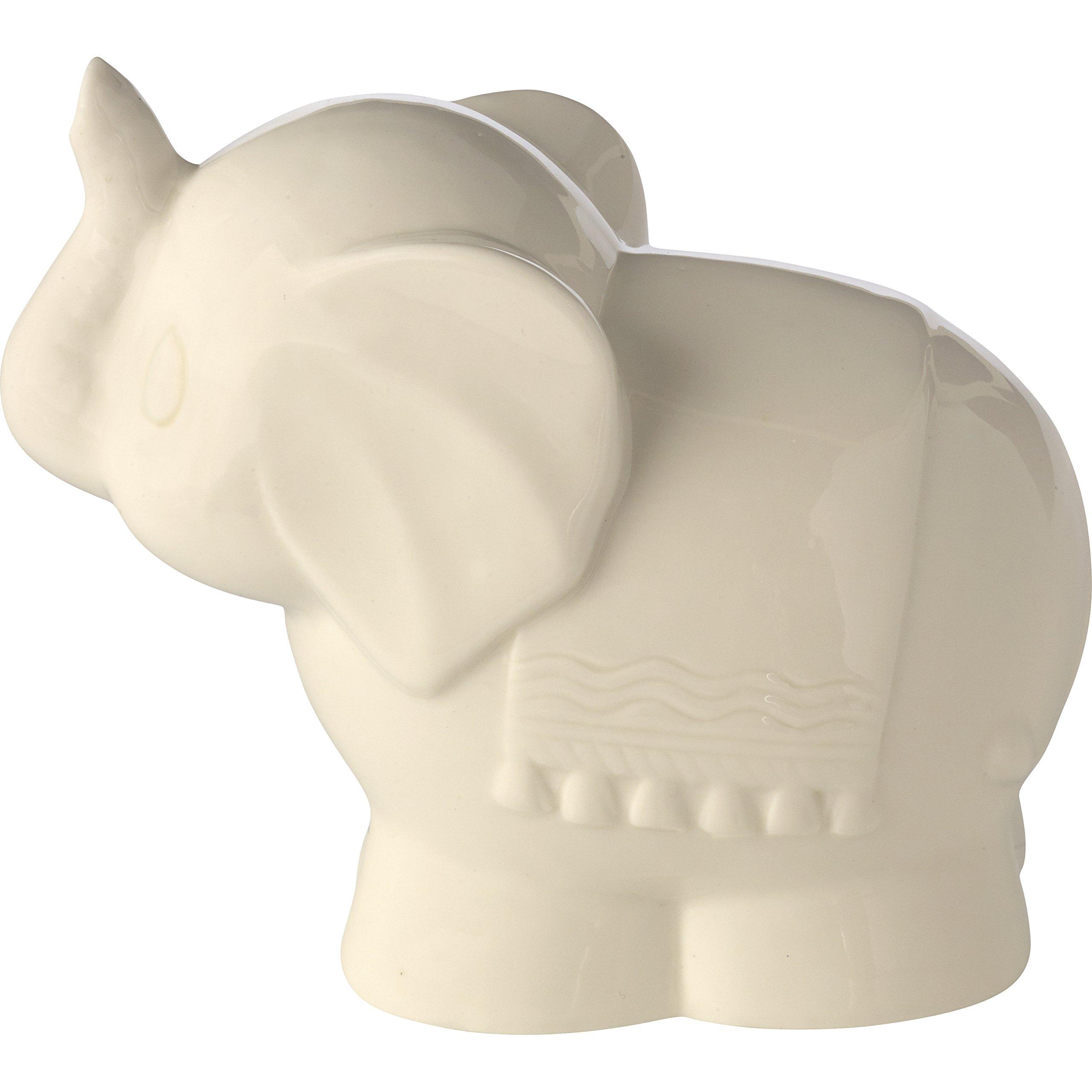 Precious Moments Tuk Elephant Ceramic Battery Operated Nightlight, Beige