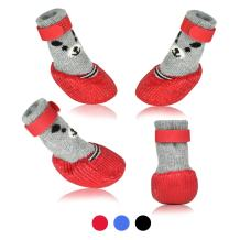 Dog Cat Boots Shoes Socks with Adjustable Waterproof Breathable and Anti-Slip Sole All Weather Protect Paws(Only for Tiny Dog)
