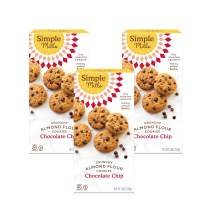 Simple Mills Almond Flour Chocolate Chip Cookies, Gluten Free and Delicious Crunchy Cookies, Organic Coconut Oil, Better for you Snacks, Made with whole foods, 3 Count, (Packaging May Vary)