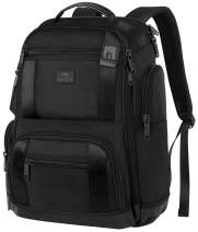 Laptop Backpack,17 Inch Travel Laptop Backpack for Men Women,Professional Business Carry on Backpack for Notebook, Large Backpack Tsa Friendly Water Resistant High School College Computer Bag, Black