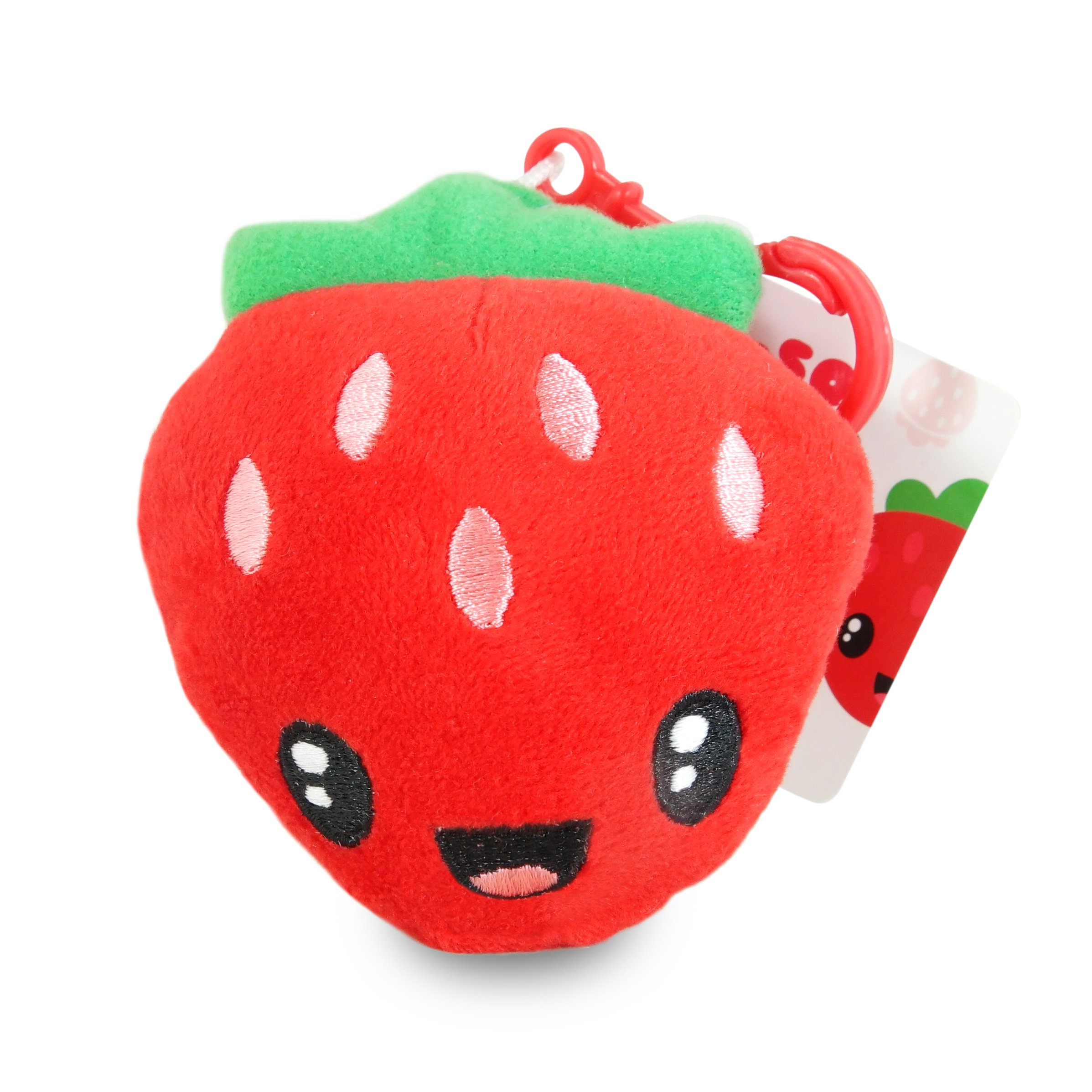 Scentco Fruit Troop Backpack Buddies - Scented Plush Toy Clips - Strawberry
