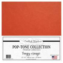 Tangy Orange Cardstock Paper - 12 X 12 Inch 100 Lb. Heavyweight Cover - 25 Sheets from Cardstock Warehouse