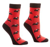 Yo Sox Women's Crew Socks Animals (Scotty Love)