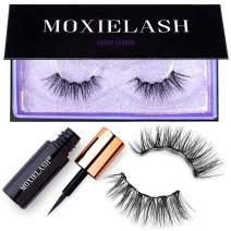 MoxieLash Sassy Kit - Mini Liquid Magnetic Eyeliner for Magnetic Eyelashes - No Glue & Mess Free - Fast & Easy Application - Set of Classy Lashes & Instruction Card Included (Sassy Lash Kit)