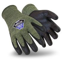 HexArmor Helix 2082 Seamless Work Gloves with Grip and Flame Resistance, Small