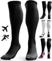 Compression Socks for Men & Women - Anti DVT Varicose Vein Stockings - Running - Shin Splints Calf Support