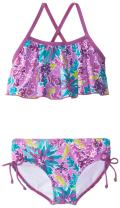 Kanu Surf Girls' Karlie Flounce Bikini Beach Sport 2-Piece Swimsuit