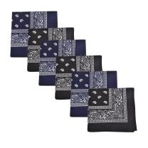 Mechaly Paisley 100% Cotton Bandanas - 6 Pack