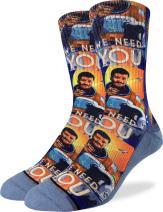 Good Luck Sock Men's Neil deGrasse Tyson Crew Socks - Adult Shoe Size 8-13