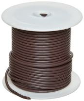 """GPT-M Automotive Copper Wire, Brown, 18 AWG, 0.040"""" Diameter, 1000' Length (Pack of 1)"""