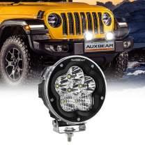 Auxbeam LED Light Pod 5 Inch 60W Round Driving Light with Flood Spot Combo Beam Fog Light Off-Road Round Light for Boat Truck SUV ATV UTV Jeep Wrangler-1 Pack