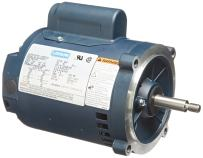 Leeson 100207.00 Jet Pump Motor, 1 Phase, S56J Frame, Round Mounting, 1/2HP, 3600 RPM, 115/208-230V Voltage, 60Hz Fequency