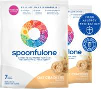SpoonfulOne Allergen Introduction Oat Crackers | Protection For Kids From Developing a Food Allergy | Snack for a Toddler or Baby 12+ Months | Certified Organic (Vanilla - 14 Pack)