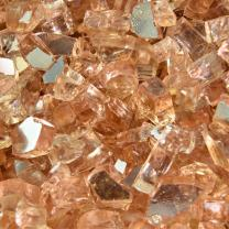 Citron - Fire Glass for Indoor and Outdoor Fire Pits or Fireplaces | 10 Pounds | 1/4 Inch, Reflective