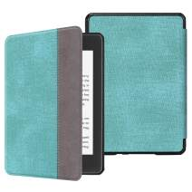 Fintie Slimshell Case for All-New Kindle Paperwhite (10th Generation, 2018 Release) - Premium Lightweight PU Leather Cover with Auto Sleep/Wake for Amazon Kindle Paperwhite E-Reader, Turquoise/Brown