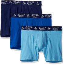 Original Penguin Men's Cotton Stretch Boxer Brief Underwear, Multipack