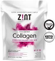 Zint Collagen Peptides Powder (16 oz): Paleo-Friendly, Keto-Certified, Grass-Fed Hydrolyzed Collagen Protein Supplement - Unflavored, Non GMO