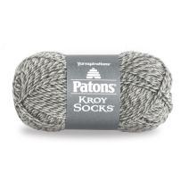 Patons Kroy Socks Yarn - (1) Super Fine Gauge - 1.75 oz - Grey Marl - For Crochet, Knitting & Crafting