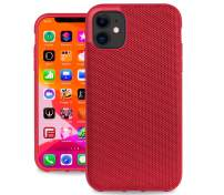 Evutec Ballistic Nylon iPhone 11 6.1 Inch, Unique Heavy Duty Premium Protective Military Grade Drop Tested Shockproof Phone Case Cover(AFIX+ Magnetic Mount Included) (Red)