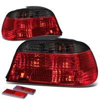DNA Motoring TL-E3895-RD-SM TLE3895RDSM Tail Light Assembly (Driver & Passenger Side) for BMW E38 7-Series