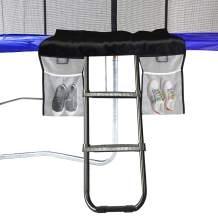 Eurmax Universal Trampoline Ladder with 2 Wide Skid-Proof Steps with Storage Bag/Black