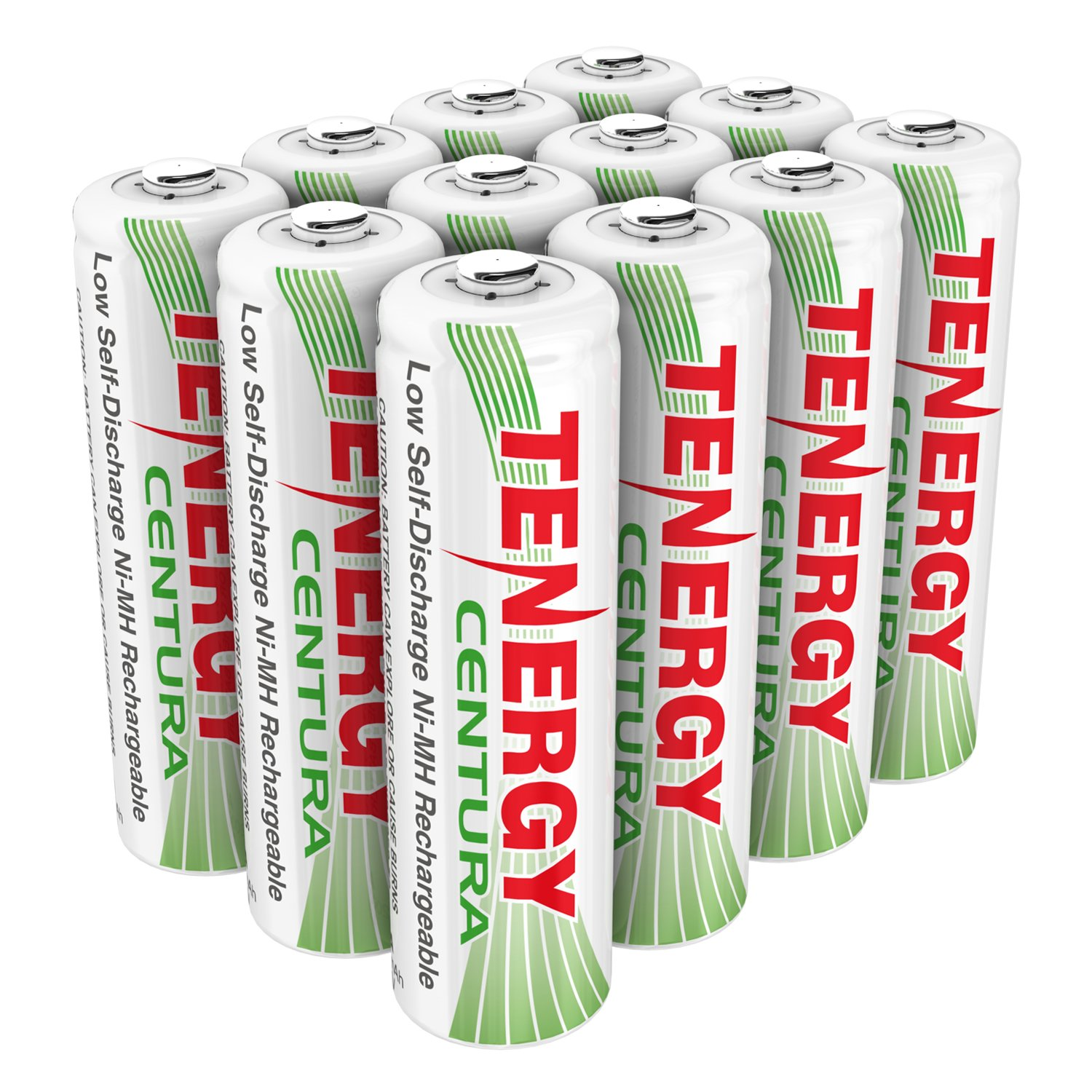 Tenergy AA Rechargeable NIMH Battery 2000mAh Pre-Charged Household Battery Low Self Discharge High Performance AA Battery Pack for Remote Controller/Toys/Flashlight/Mice (12 PCS)