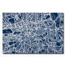London Street Map III by Michael Tompsett, 22x32-Inch Canvas Wall Art