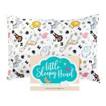 Little Sleepy Head Toddler Pillowcase 13 x 18-100% Polyester & Hypoallergenic - Safari