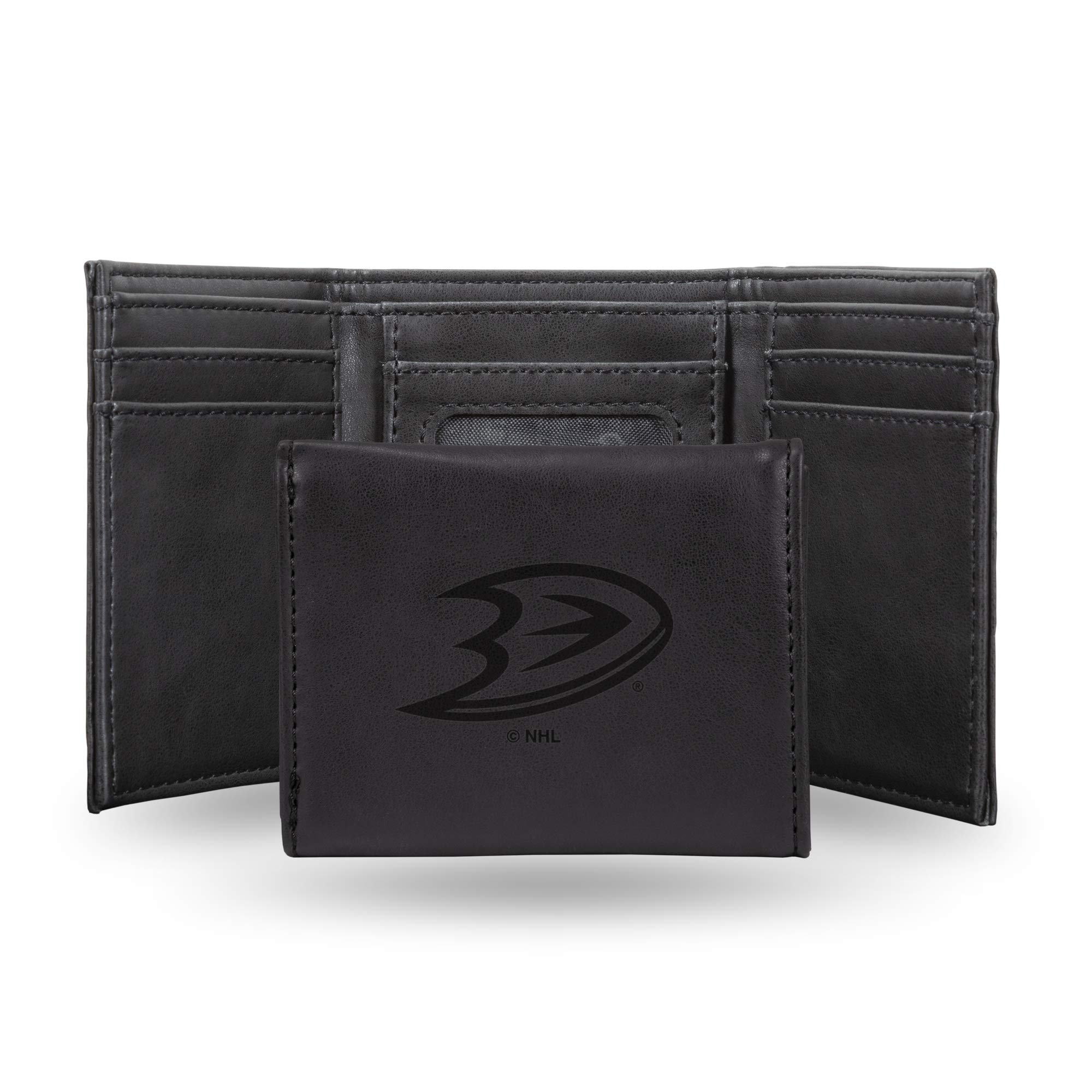 NHL Rico Industries  Laser Engraved Trifold Wallet, Anaheim Ducks