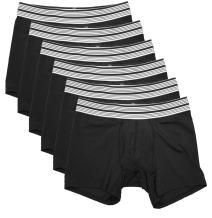 Mr. Davis Men's Mid Cut Boxer Brief Underwear - 6 Pack